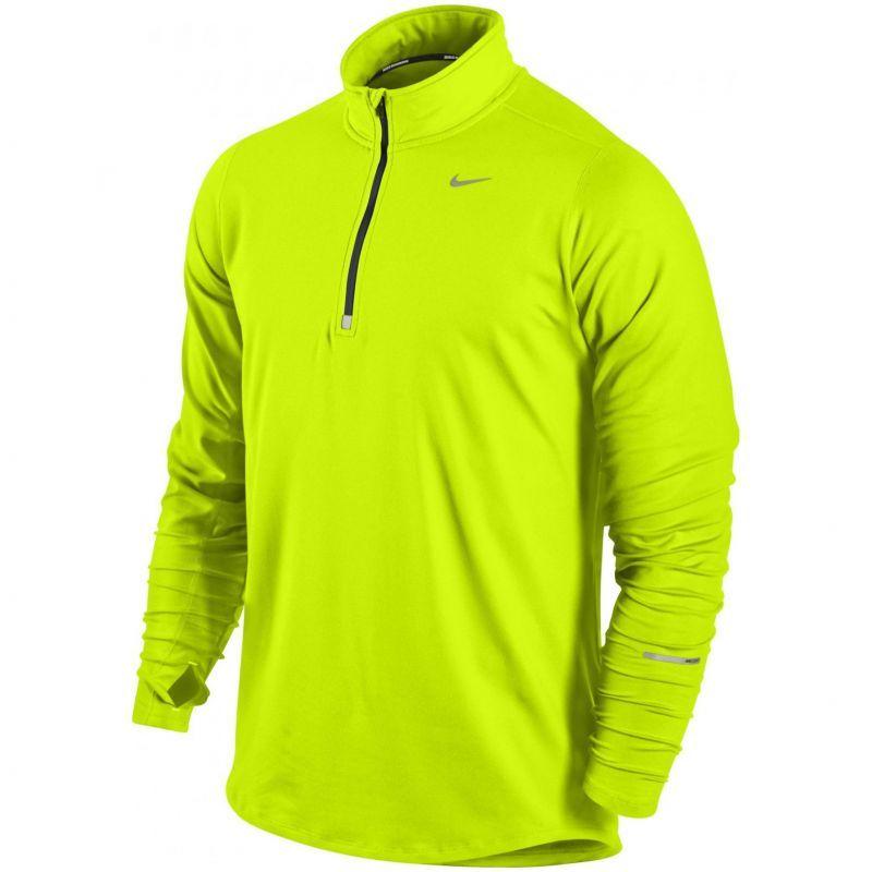 Футболка Nike Element 1/2 Zip LS /Рубашка беговая салатовая