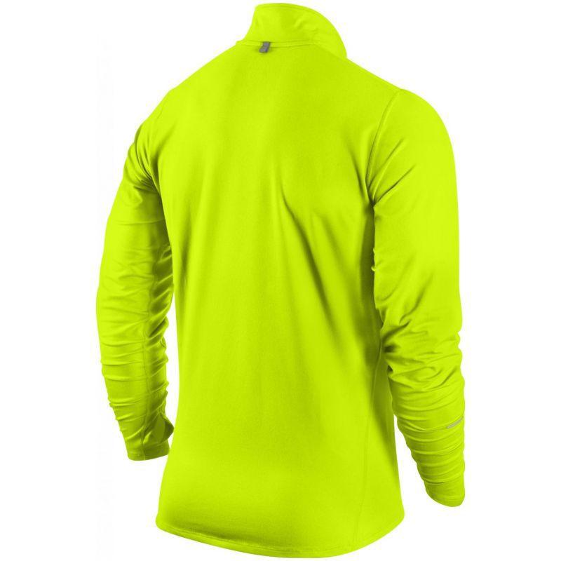 Футболка Nike Element 1/2 Zip LS /Рубашка беговая салатовая - 2