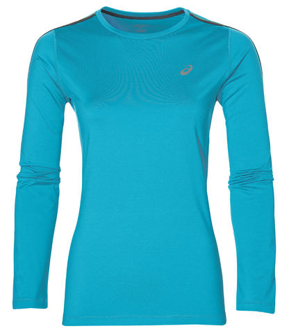 Рубашка для бега женская Asics Long Sleeve Winter Top голубая