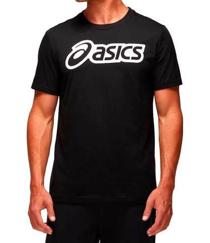 Asics Logo Graphic Tee футболка для бега мужская черная
