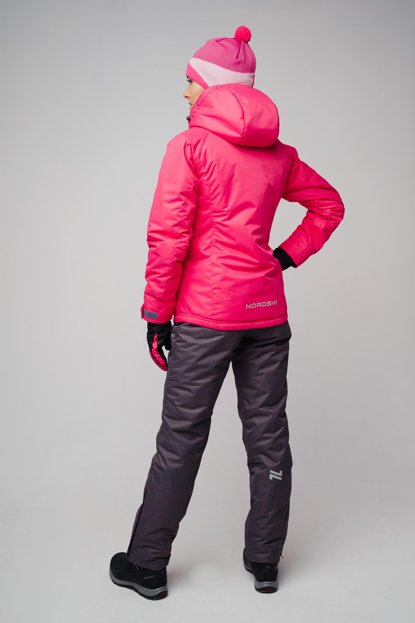 Nordski Motion женский прогулочный костюм raspberry-grey - 2