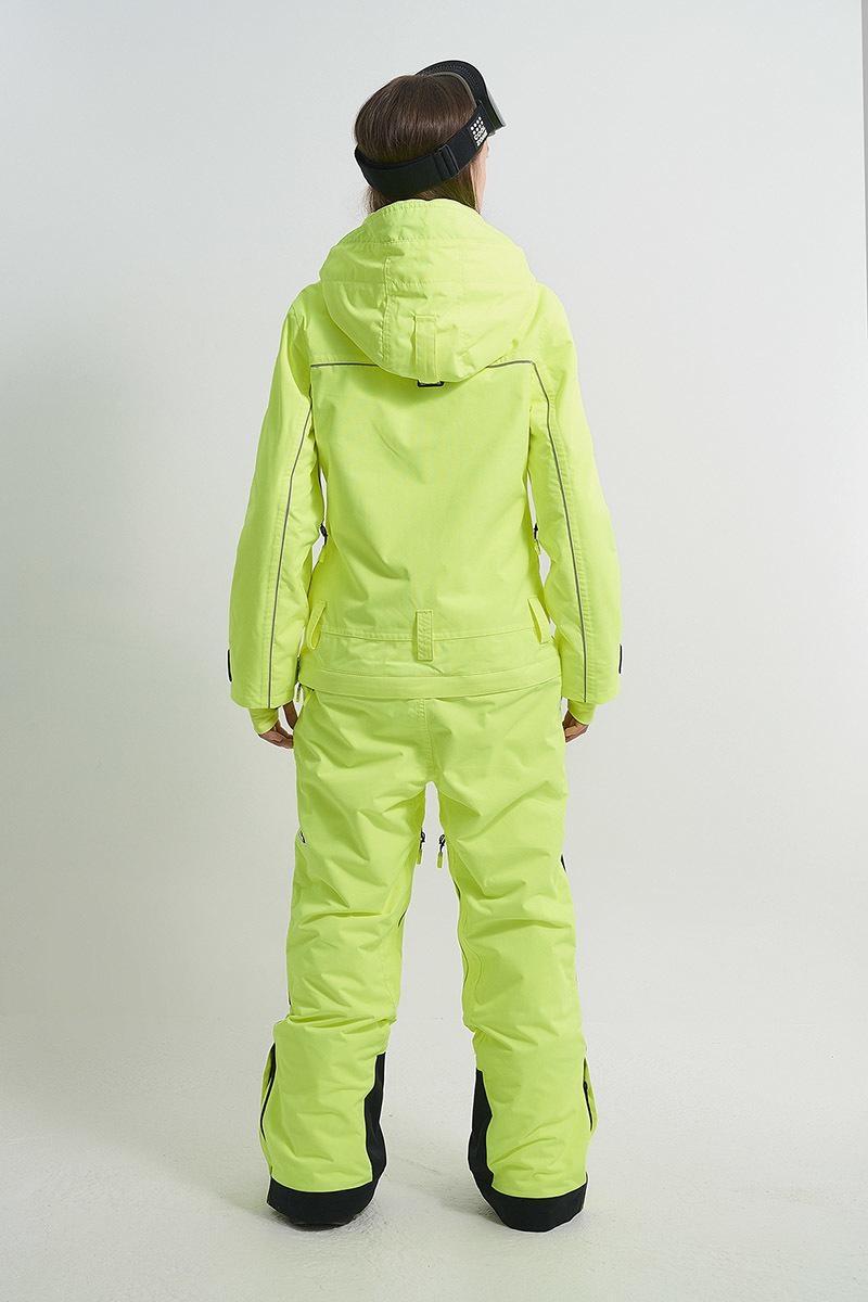 Cool Zone OVER комбинезон женский сноубордический салатовый - 4