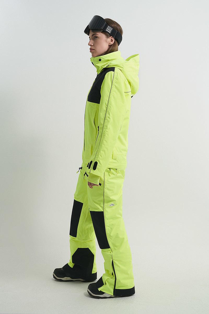 Cool Zone OVER комбинезон женский сноубордический салатовый - 6