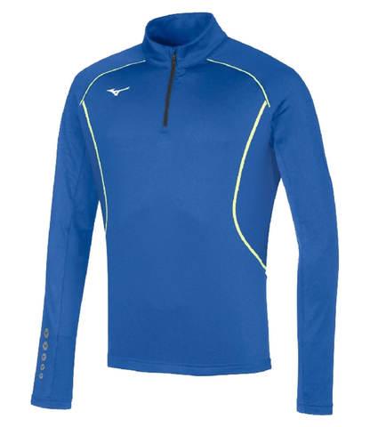 Mizuno Premium Jpn Warmer Top рубашка беговая мужская синяя