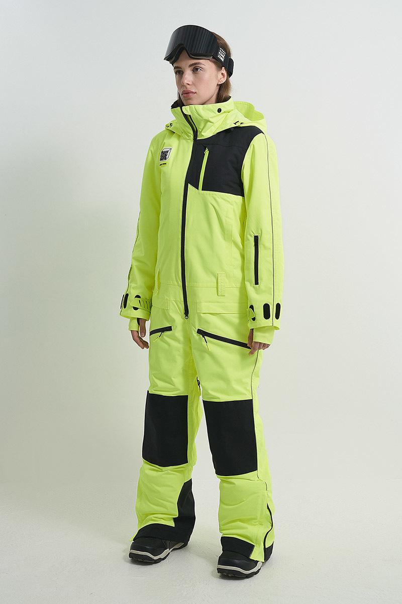 Cool Zone OVER комбинезон женский сноубордический салатовый - 5