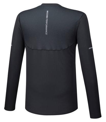 Mizuno Bt Mesh Ls Tee футболка с длинным рукавом мужская черная