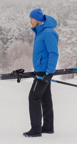 Nordski Montana теплый лыжный костюм мужской синий