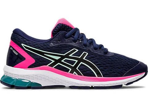 Asics Gt 1000 9 Gs кроссовки для бега подростковые синие-розовые