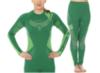 BRUBECK DRY женский комплект термобелья зелено-лимонный - 1