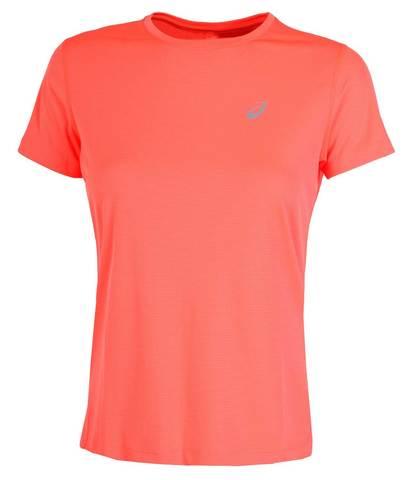 Asics Silver Ss Top футболка для бега женская коралловая