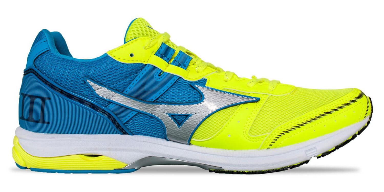 Mizuno Wave Emperor 3 кроссовки для бега мужские желтые-голубые - 1