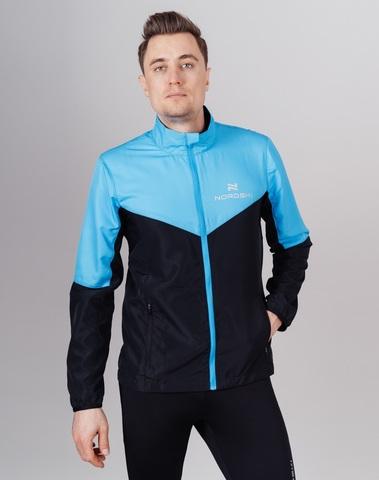 Nordski Sport Premium костюм для бега мужской light blue-black