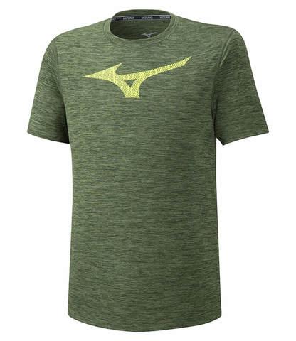 Mizuno Core Graphic Rb Tee беговая футболка мужская зеленая