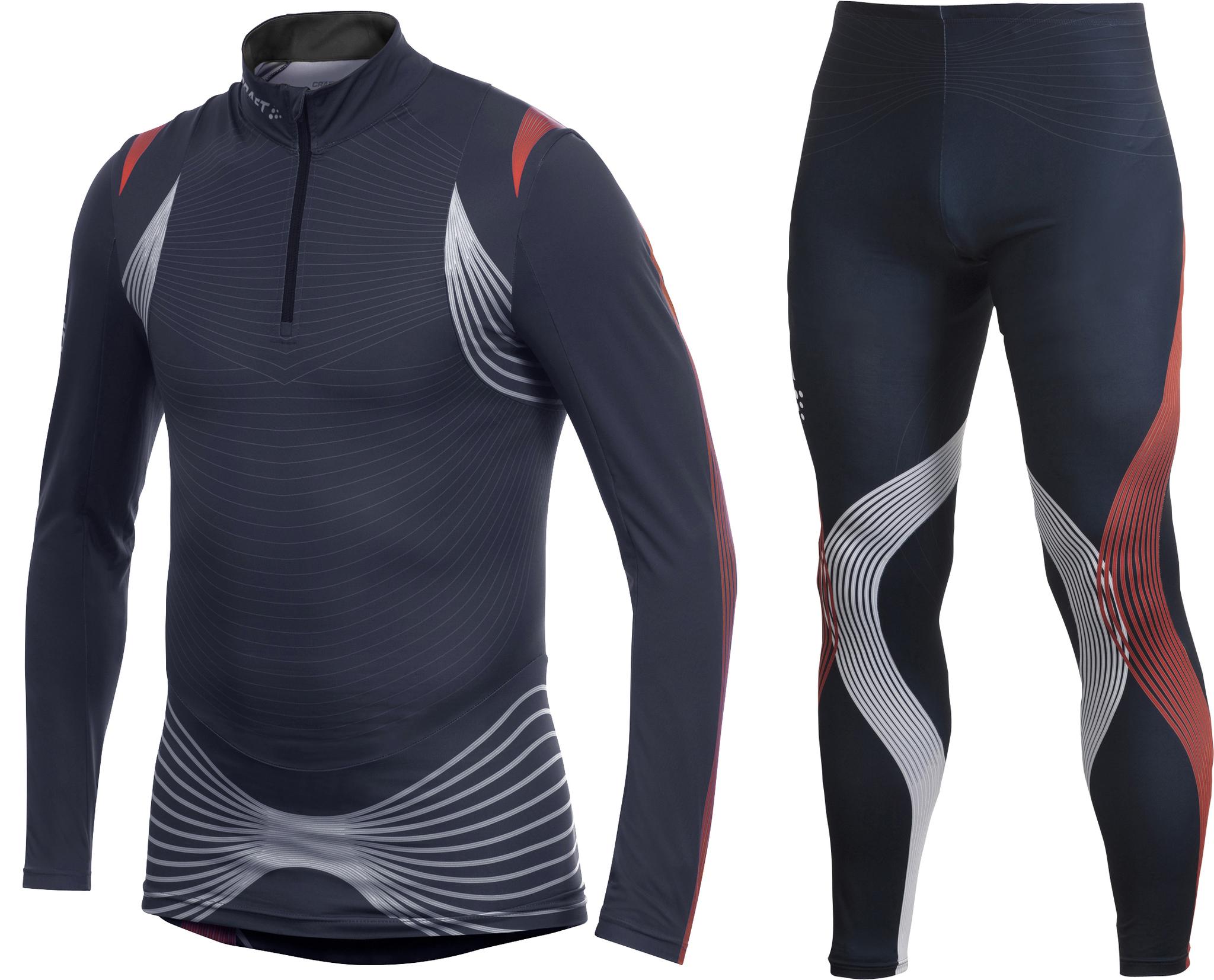 Элитный гоночный костюм Craft Elite XC мужской темно синий