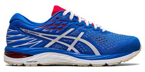Asics Gel Cumulus 21  кроссовки для бега мужские синие-белые
