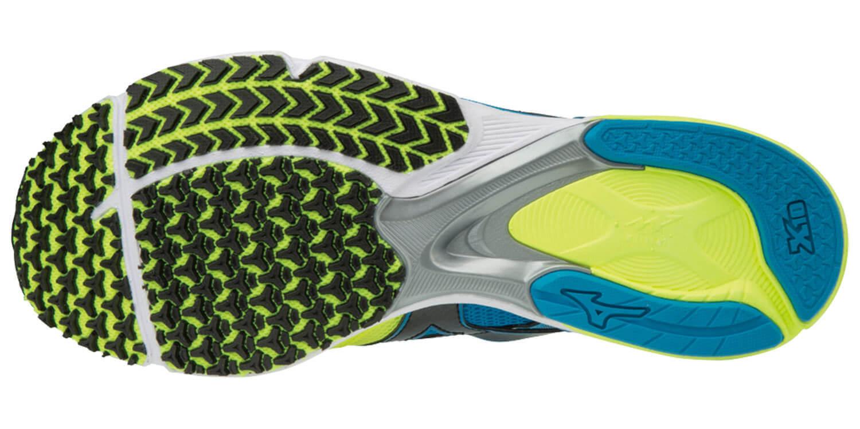 Mizuno Wave Emperor 3 кроссовки для бега мужские желтые-голубые - 2