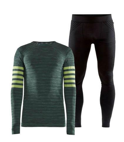 Craft Fuseknit Comfort Blocked комплект термобелья мужской green-black