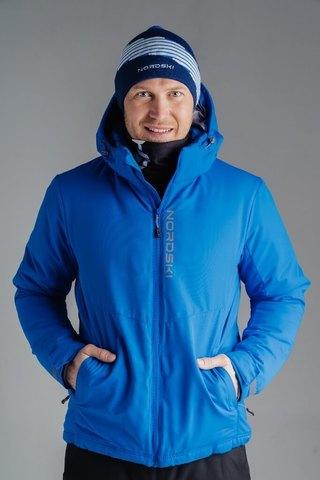 Nordski Montana Premium утепленный лыжный костюм мужской Blue-Black