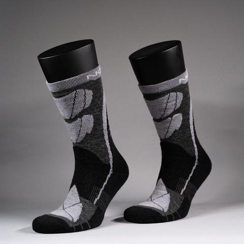 Nordski Wool термоноски черные-серые
