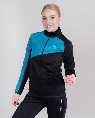 Nordski Premium разминочная куртка женская blue-black
