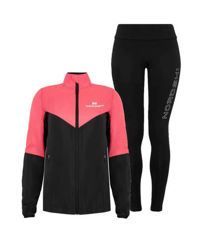 Nordski Sport Elite костюм для бега женский pink-black