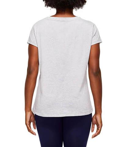 Asics Logo Graphic Tee  футболка для бега женская серая