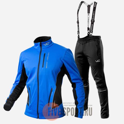 Victory Code Speed Up A2 разминочный лыжный костюм с лямками blue