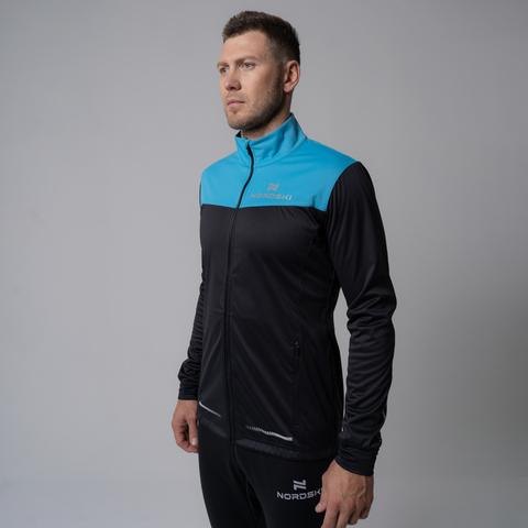 Nordski Pro разминочная куртка мужская breeze-black