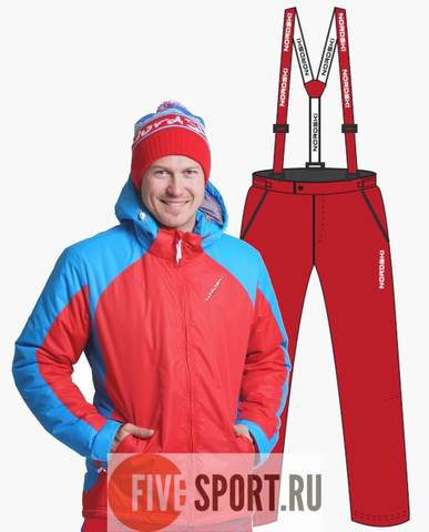Nordski National прогулочный лыжный костюм мужской Red