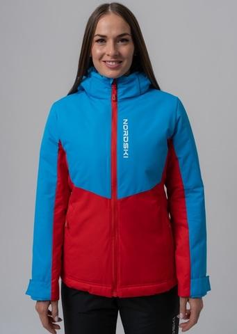Nordski Montana Premium зимний лыжный костюм женский Rus blue