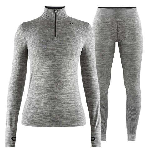 Craft Fuseknit Comfort комплект термобелья женский на молнии grey