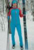 Nordski Premium разминочные лыжные брюки женские blue - 2
