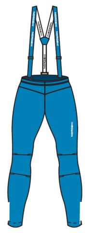 Nordski Jr Premium разминочный лыжный костюм детский blue-red