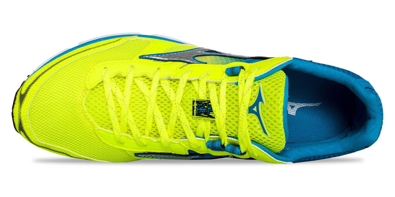 Mizuno Wave Emperor 3 кроссовки для бега мужские желтые-голубые - 3