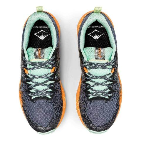 Asics Fujitrabuco Lyte кроссовки внедорожники женские черные-оранжевые