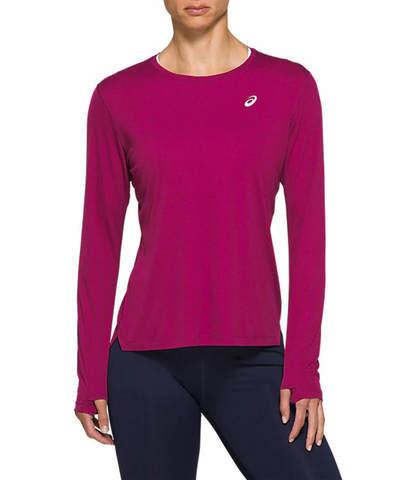 Asics Silver Ls Top рубашка для бега женская фиолетовая