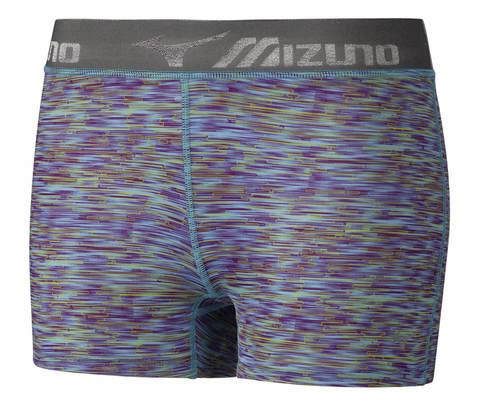 Тайтсы женские Mizuno Impulse Printed Short Tight синие