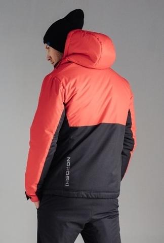 Nordski Montana Premium лыжный костюм зимний мужской Red-Black