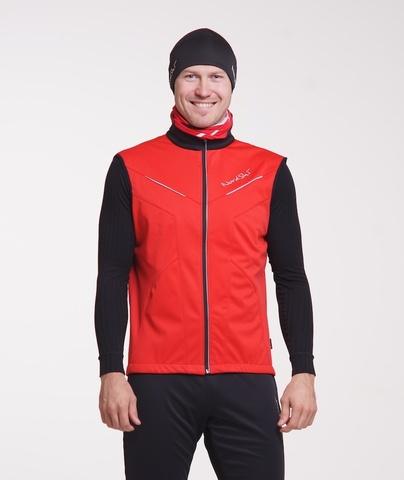 Nordski Premium детский лыжный жилет красный