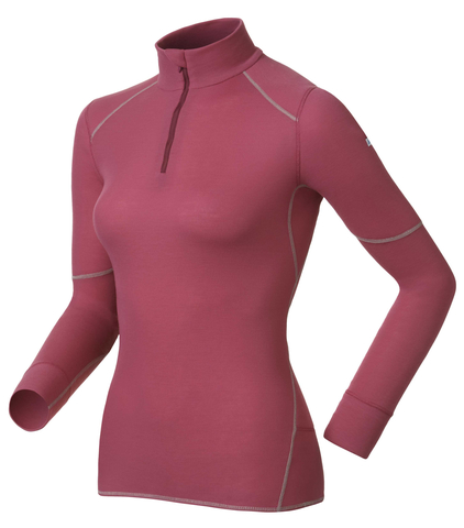 Odlo X-Warm женская термофутболка с длинным рукавом розовая