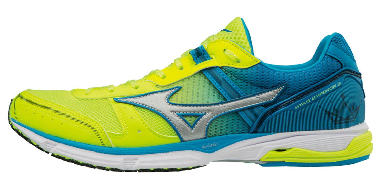 Mizuno Wave Emperor 3 кроссовки для бега мужские желтые-голубые - 4