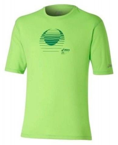 Беговая футболка мужская Asics Graphic SS зеленая