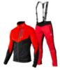 Victory Code Go Fast разминочный лыжный костюм с лямками red-red - 1