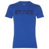 Asics Esnt Diagonal Ss Top футболка для бега мужская синяя - 1