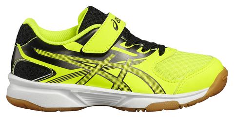 Asics Upcourt 2 PS кроссовки волейбольные детские желтые-черные
