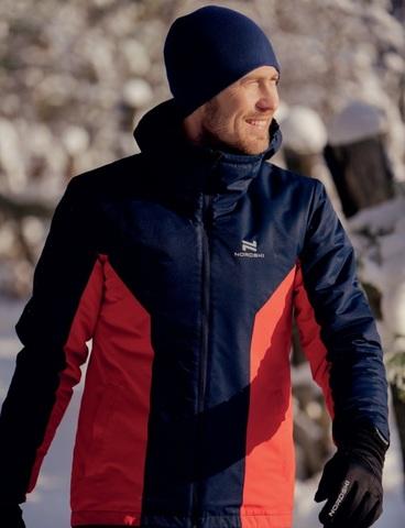 Теплая лыжная куртка мужская Nordski Base iris-red