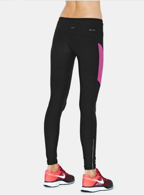 Тайтсы Nike Filament Tight (W) чёрно-розовые - 3