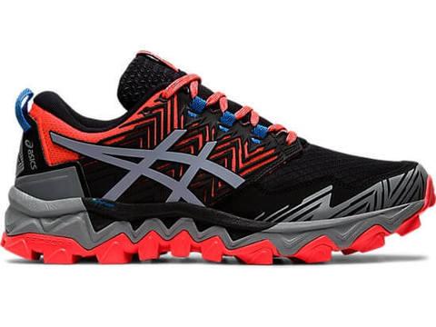 Asics Gel Fujitrabuco 8 кроссовки внедорожники женские черные-красные