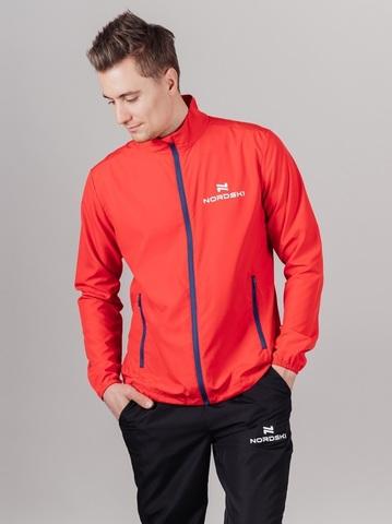 Nordski Motion куртка ветровка мужская Red/Dark blue