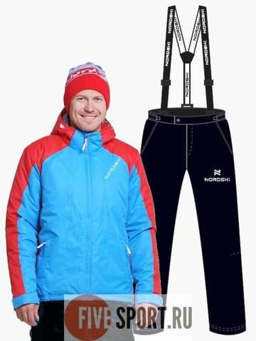 Nordski National утепленный лыжный костюм мужской Blue-Black